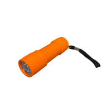 9 LED Flashlight - Orange