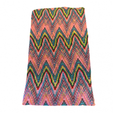 Lightweight Pastel Zigzag Scarf - Pink