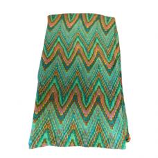 Lightweight Pastel Zigzag Scarf - Green