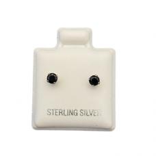 Sterling Silver Birthstone Post Earrings - Garnet (January)