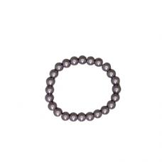 8mm Pearl Stretch Bracelet - Gray