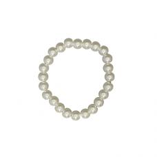 8mm Pearl Stretch Bracelet - White