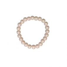 8mm Pearl Stretch Bracelet - Pink