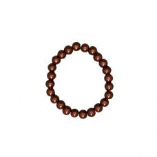 8mm Pearl Stretch Bracelet - Bronze