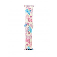 Smart Watch Band With Butterfly Print - 38/40 mm
